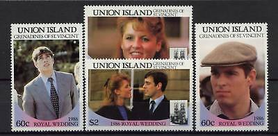 Union Island 1986 Royal Wedding MNH Set