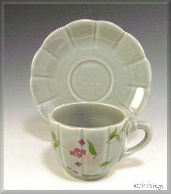 Bernardi Hand Painted Floral Demitasse Cup and Saucer