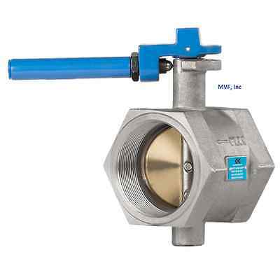 """Butterfly Valve 2"""" 200 cwp, Threaded End (Female NPT) Cast Iron, NEW  911WH"""