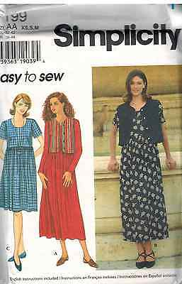 7199 UNCUT SIMPLICITY SEWING Pattern Misses EASY Dress Lined Vest Casual  OOP SEW