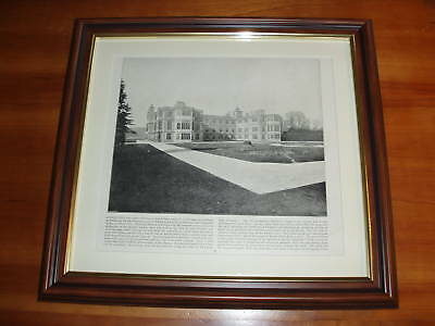 1894 Print over 100 years old Audley End. North Essex.