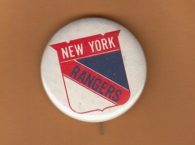 1950s NEW YORK NY RANGERS STICK PIN PINBACK BUTTON Unsold Stock