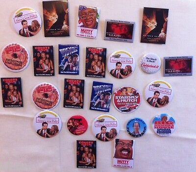 Mixed Lot 25 Classic Movie Release Entertainment Memorabilia Promo Pin Buttons