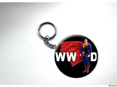 What Would SUPERMAN Do  Key Chain