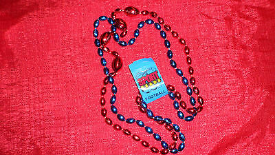 New York Giants Team Colored Beads Necklace NFL