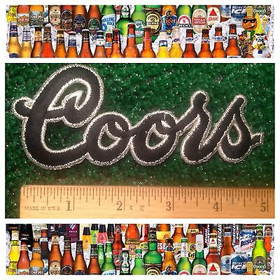 "COORS Brewing Colorado Beer 5.25"" Sew/Iron-on Collectors Script Logo Patch NEW"
