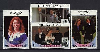 Niutao 1986 Royal Wedding Specimen MNH Set
