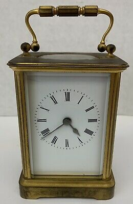 19 Century French Brass Carriage Clock   MAGNIFICENT