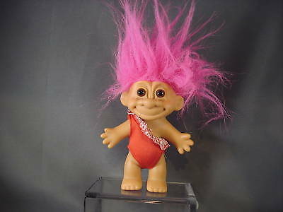 Russ Troll Doll Pink Hair Red Swimsuit Outfit