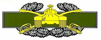 Army Combat Armor Badge  Decal Sticker