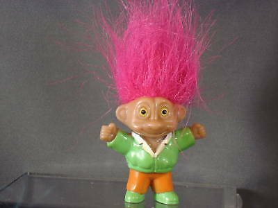 Troll Doll with Pink Hair and Outfit