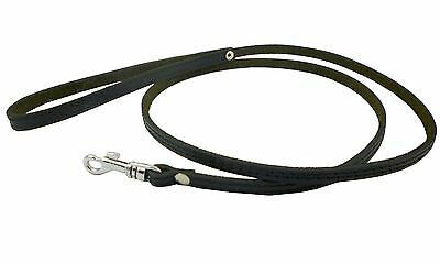 "Genuine Leather Dog Leash  3/8"" wide Poodle, Yorkshire Terrier, Puppies"