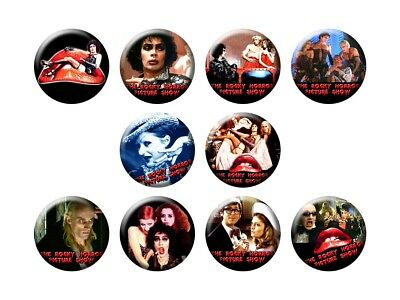 ROCKY HORROR PICTURE SHOW 10 new Buttons/Magnets