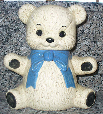 Consolidated Biscuit Co. 1987 Teddy Bear Cookie Jar Kitchen Nursery Storage