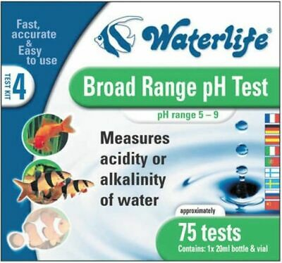Waterlife Broad Range Ph Test Kit Marine Tropical Fish