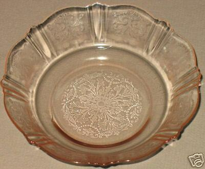 PINK DEPRESSION CEREAL BOWL AMERICAN SWEETHEART 1933