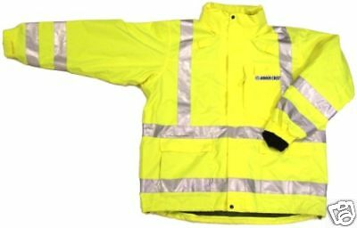 ANSI CLASS 3 SAFETY 3-in-1 JACKET LIME 28-5966 2XL