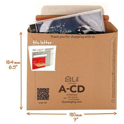 "5 x ECO FRIENDLY ""PIP""  SIZE CD CARD MAILERS 180x165"