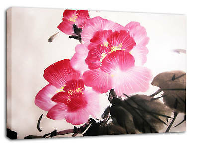 Red Large  Art of Chinese Blossom Flowers 1800cm x 60cm