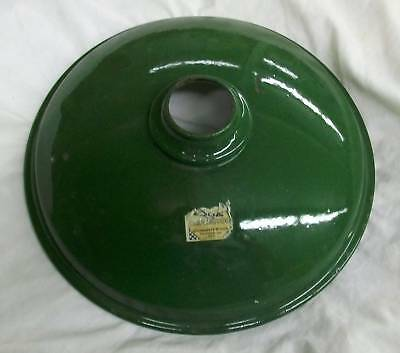 Industrial Light Green Small Pan Enamel Lighting Old