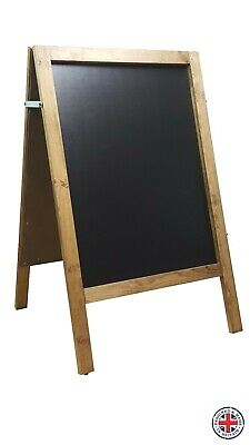 LARGE WOODEN A BOARD PAVEMENT SIGN MENU  - 100cm x 62cm - WEIGHT 10KG