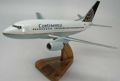 Boeing B-737 Continental Airlines Plane Wood Model Small Free Shipping