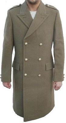 Mens Retro Peacoat Double Breasted Coat Trench Naval Reefer Military Vintage