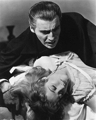 Christopher Lee As Count Dracula, Melissa St 8X10 Photo