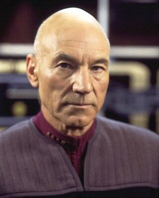 PATRICK STEWART 8X10 PHOTO wonderful image 254210