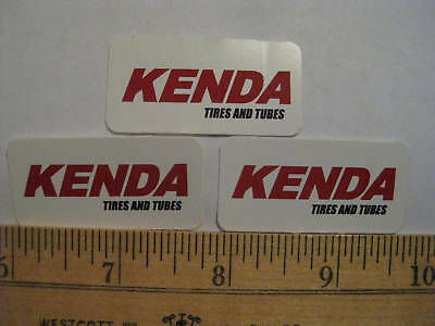 3 KENDA TIRES BMX MTB Road Bike MX Race  STICKER DECAL