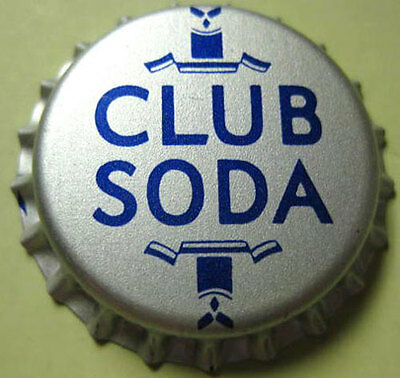 CLUB SODA unused CROWN, Bottle CAP, REAL NICE