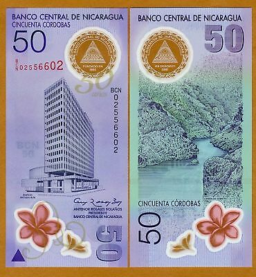 Nicaragua, 50 cordobas, 2010, Pick 207, UNC   Limited Issue Polymer