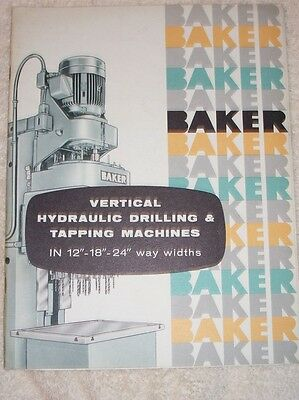 Vtg Baker Brothers Catalog~Drilling/Tapping Machines