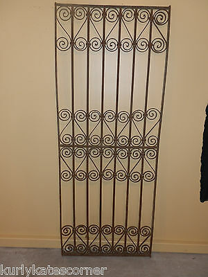 Antique 100+ Year Old French Wrought Iron Gate  *headboard*