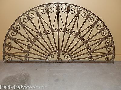 Gorgeous Antique French Iron Arched Headboard