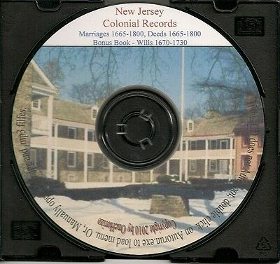 Colonial New Jersey Records - Marriages, Wills & Deeds