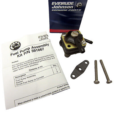 Johnson Evinrude OMC New OEM Fuel Pump Kit 9.9hp, 15HP 391667, 0391667