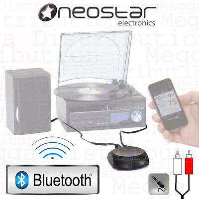Neostar BTR10 Plug'n'Play Wireless Bluetooth Receiver 3.5mm/RCA Audio Adapter