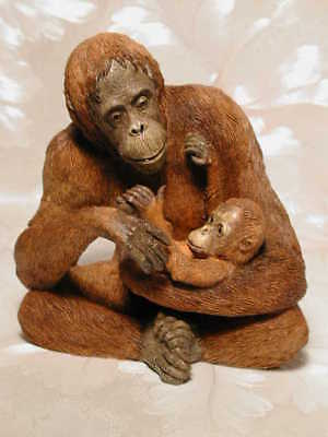 Tierfigur ORANG UTAN MIT BABY Country Artists Affe #CA00354 Naturalworld