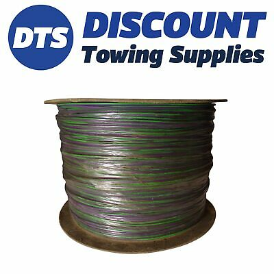 Clearance PVC AUTOMOTIVE AUTO MARINE CABLE 0.65mm 9/0.3 x 500m Green/Purple