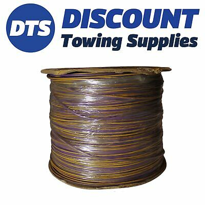 Clearance PVC AUTOMOTIVE AUTO MARINE CABLE 0.65mm 9/0.3 x 500m Purple/Yellow