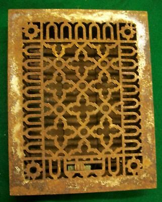 Gothic Cast Iron Heat Grate Grill Archetictural Salvage