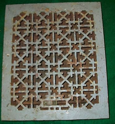 Cast Iron Heat Grate Grey Antique Cabin Lake House NY 1425