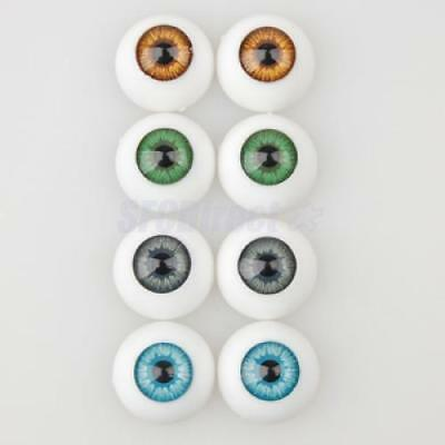 Lot 8 MIX ACRYLIC Eyes Eyeballs 16mm Fit Dollfie Doll