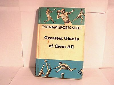 Greatest Giants of them All 1967 sports book NY SF