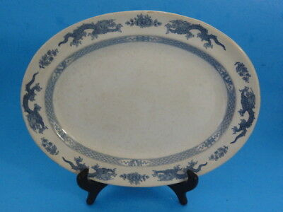 BOOTHS, Silicon China, Oval Plate DRAGON CHINESE MOTIF