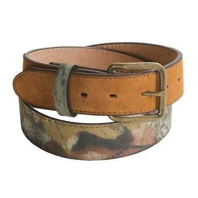 NEW SZ 32-46 REALTREE Men/'s Reversible Camouflage Canvas or Brown Leather Belt