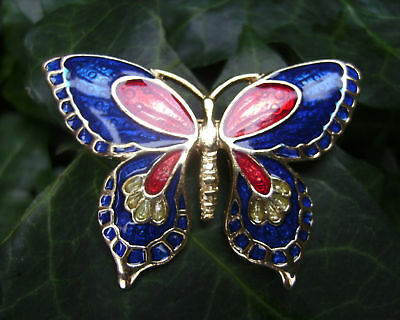 Beautiful Collectable Enamelled Butterfly Brooch/Pin