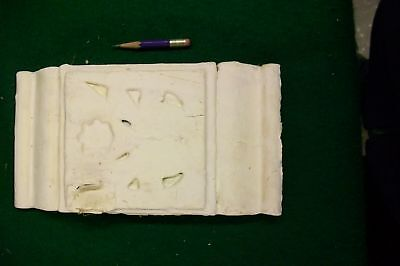 Architectural Salvage Door White Block Floral Carved