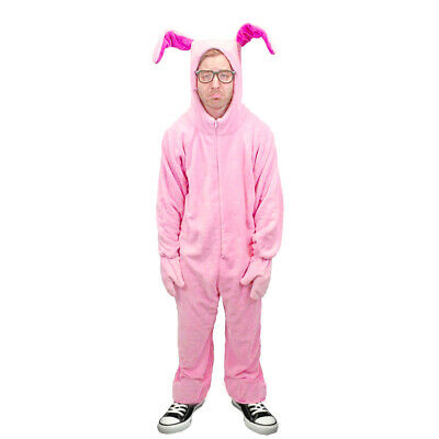 A Christmas Story Pink Nightmare Deluxe Bunny Suit Pajamas from Aunt Clara